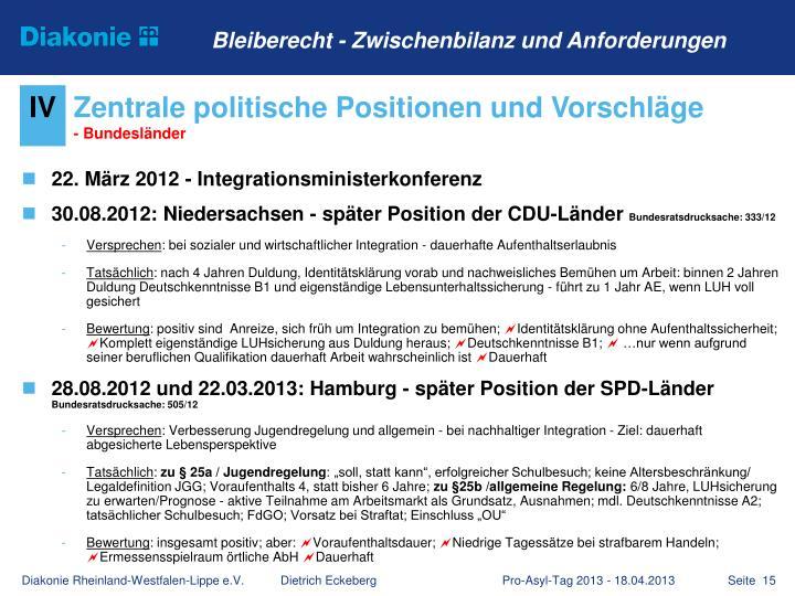 22. März 2012 - Integrationsministerkonferenz