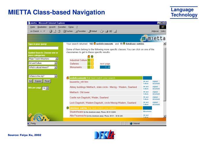 MIETTA Class-based Navigation