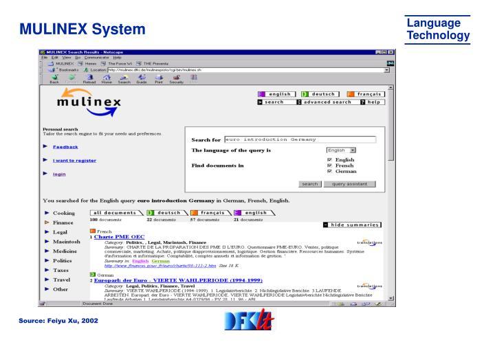 MULINEX System