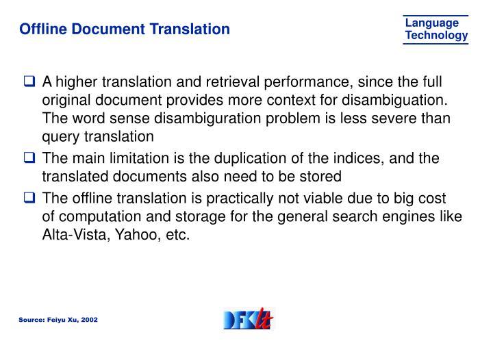 Offline Document Translation