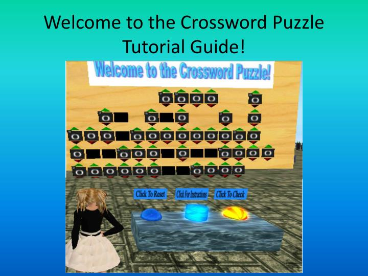Welcome to the Crossword Puzzle Tutorial Guide!