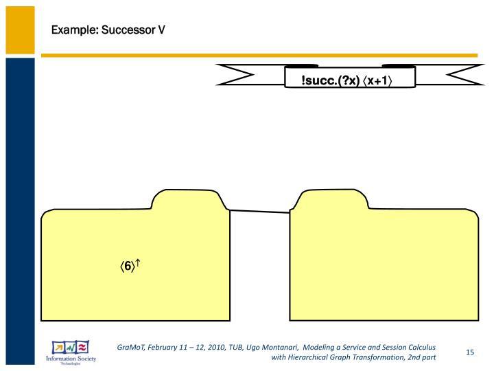 Example: Successor V