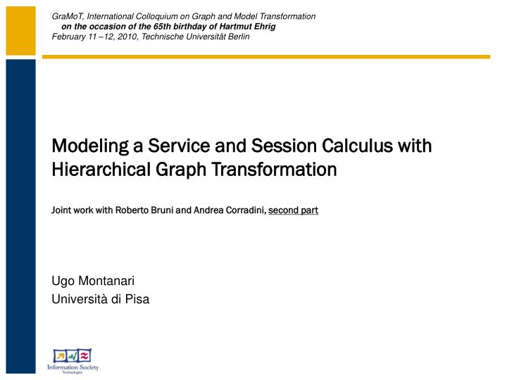 Modeling a Service and Session Calculus with Hierarchical Graph Transformation