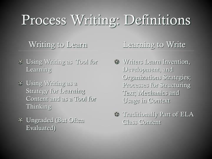 Process writing definitions
