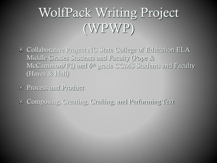 WolfPack Writing Project (WPWP)