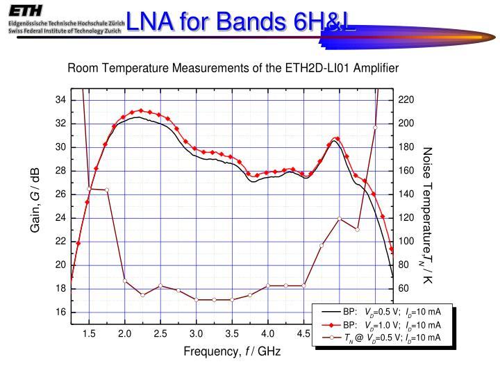 LNA for Bands 6H&L