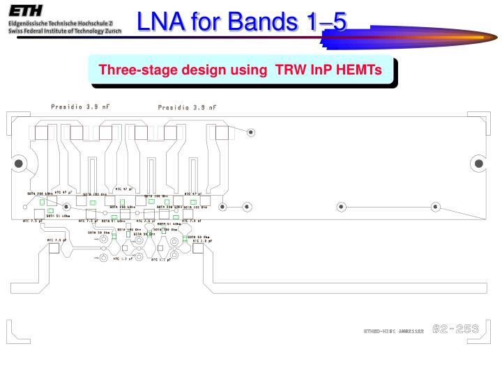 LNA for Bands 1