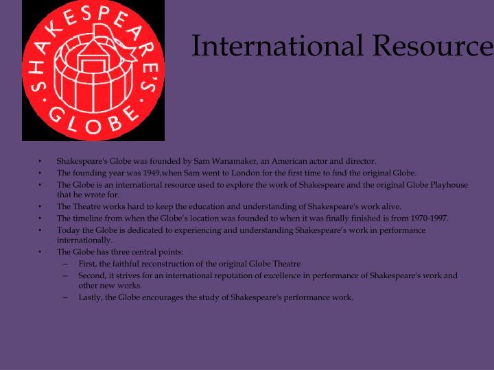 International Resource