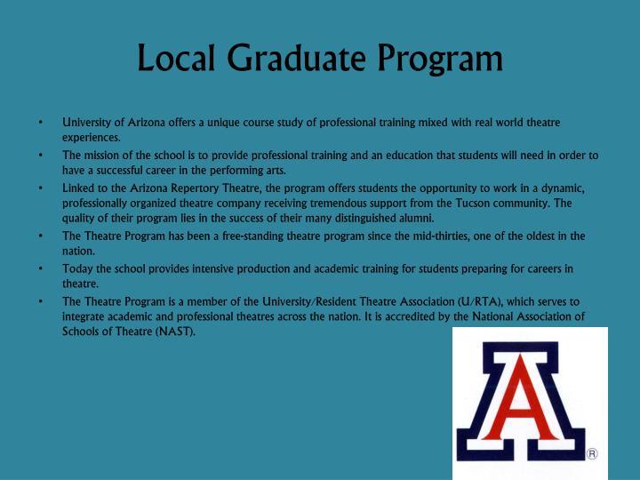 Local Graduate Program