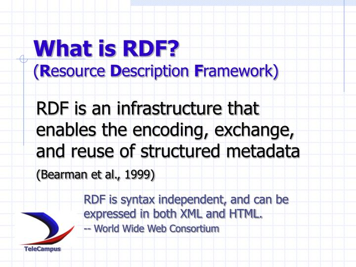 What is RDF?