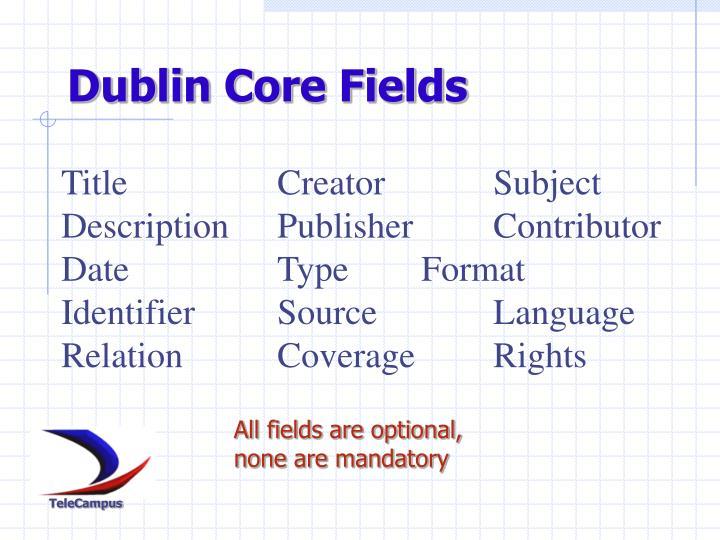 Dublin Core Fields