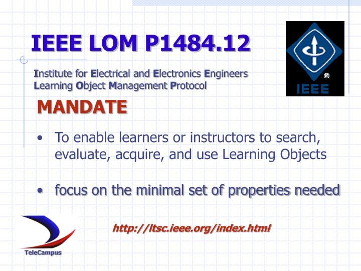IEEE LOM P1484.12