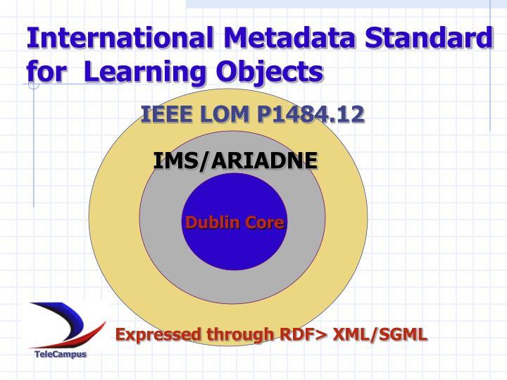 International Metadata Standard for  Learning Objects