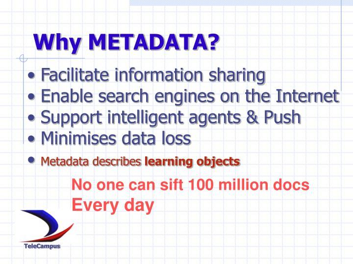 Why METADATA