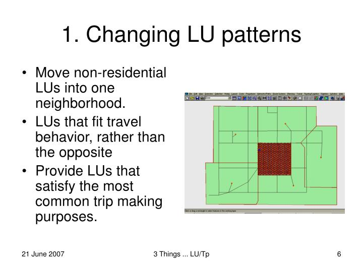 Move non-residential LUs into one neighborhood.