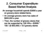 2 consumer expenditure based market analysis