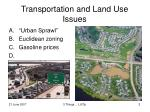transportation and land use issues