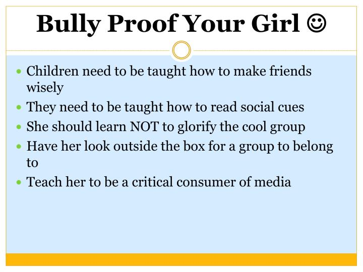 Bully Proof Your Girl