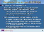 requirements for an open hie ehr 2