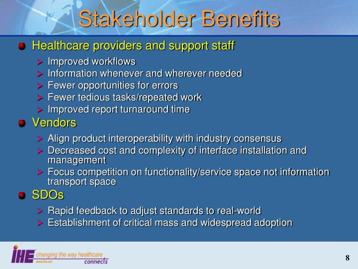 Stakeholder Benefits