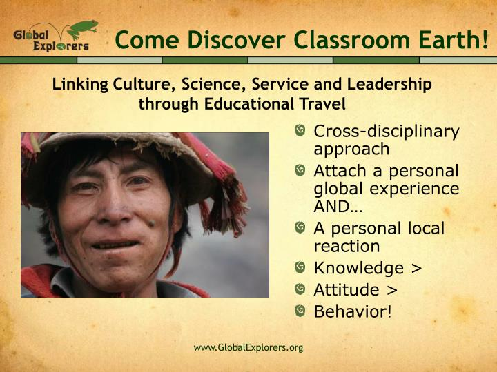Come Discover Classroom Earth!