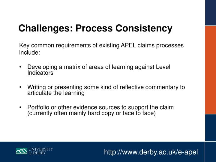 Challenges: Process Consistency