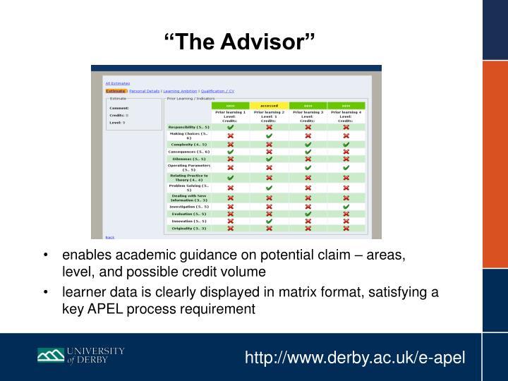 """""""The Advisor"""""""