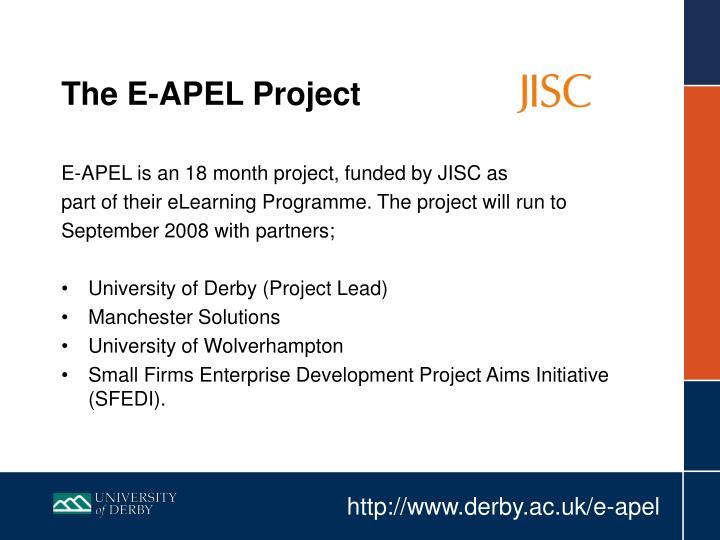 The E-APEL Project