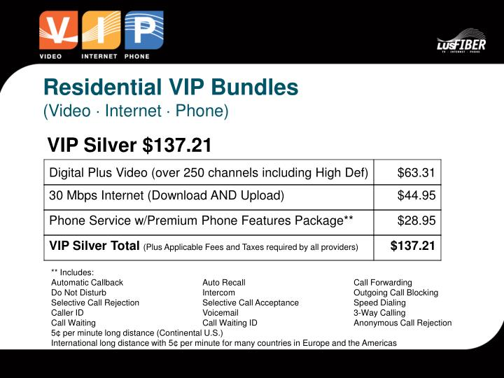 Residential VIP Bundles