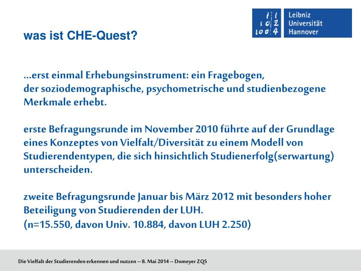 was ist CHE-Quest?