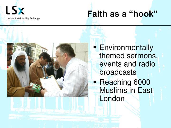 """Faith as a """"hook"""""""