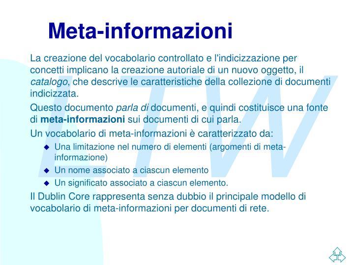 Meta-informazioni