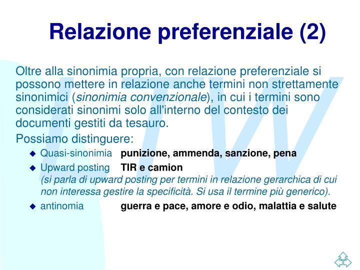 Relazione preferenziale (2)