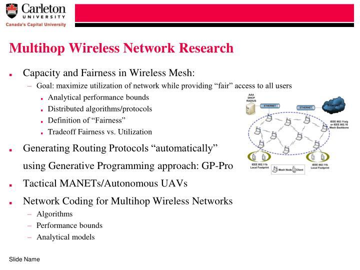 Multihop Wireless Network Research