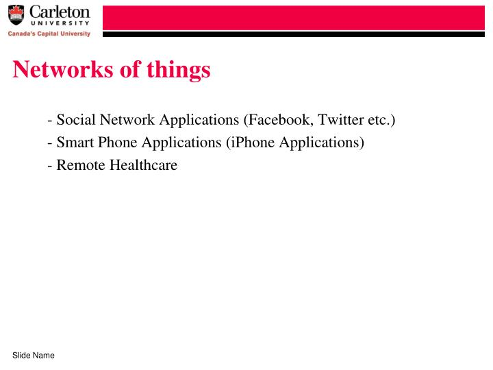 Networks of things