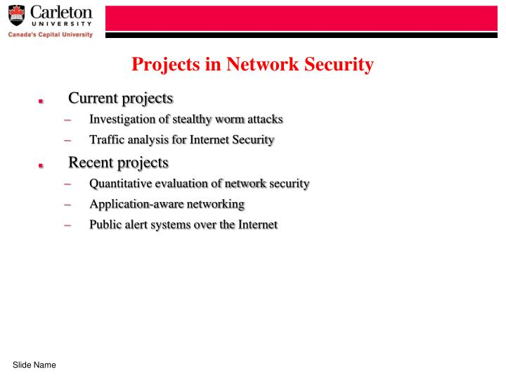 Projects in Network Security