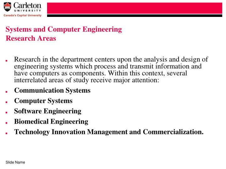Systems and Computer Engineering