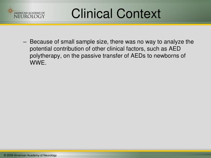 Clinical Context