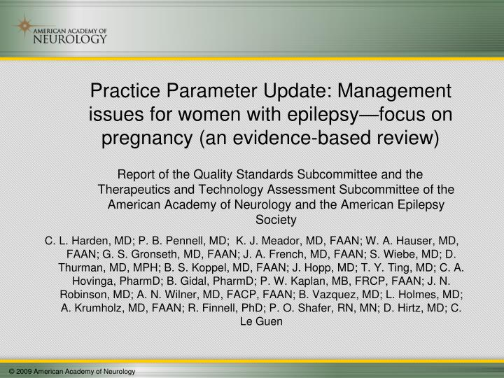 Report of the Quality Standards Subcommittee and the Therapeutics and Technology Assessment Subcom...