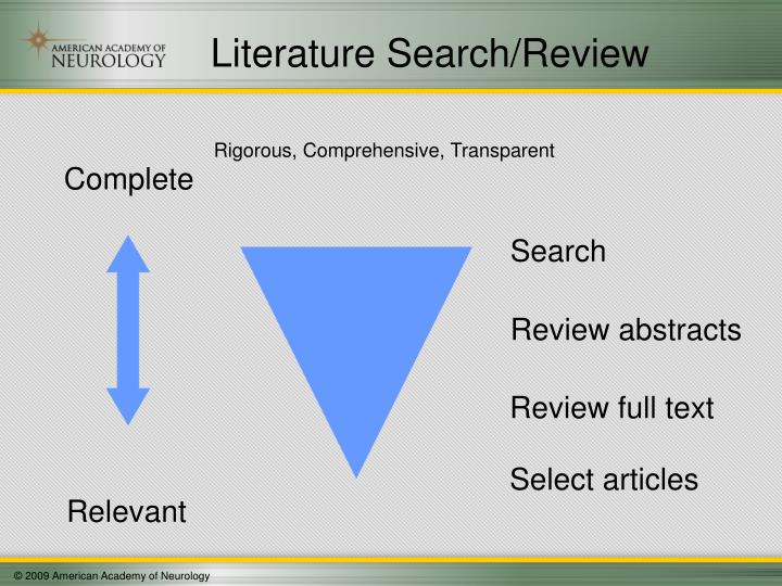 Literature Search/Review