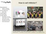 how to sell mmotion