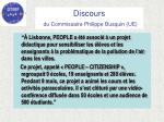 discours du commissaire philippe busquin ue