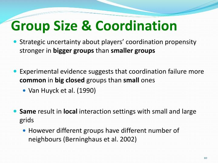 Group Size & Coordination
