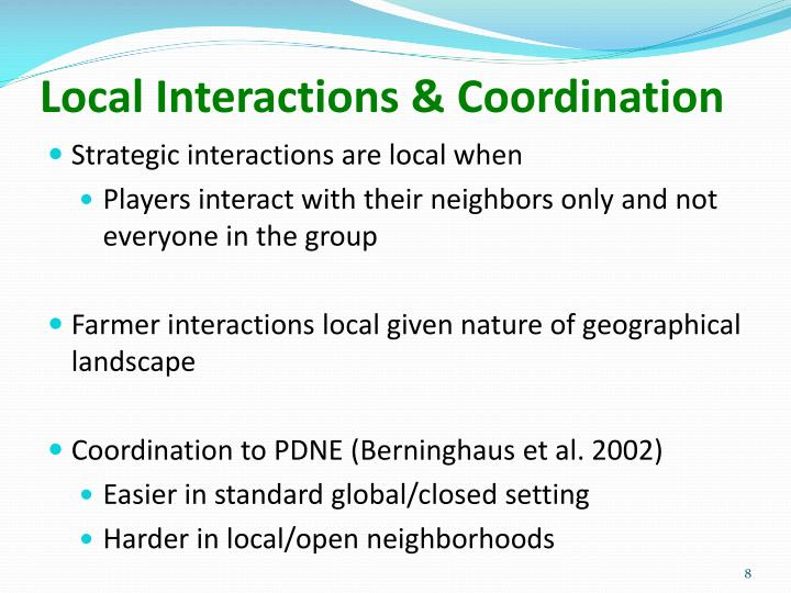 Local Interactions & Coordination