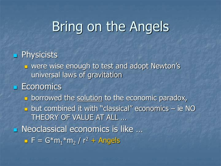 Bring on the Angels