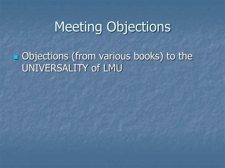 Meeting Objections