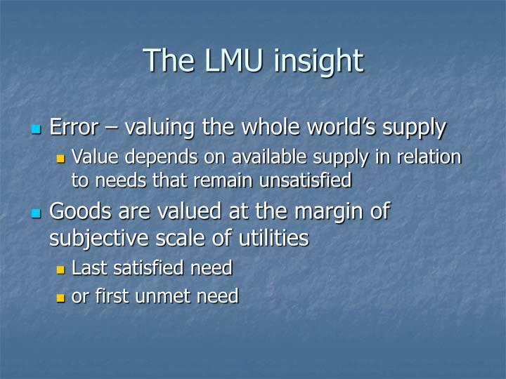 The LMU insight