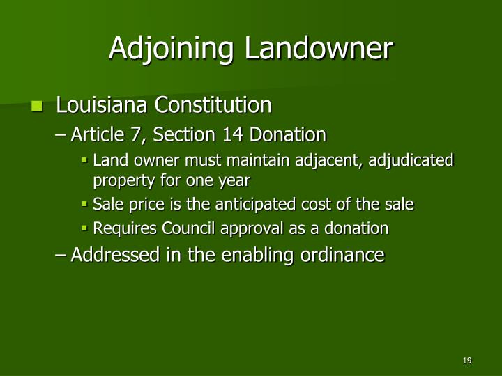 Adjoining Landowner