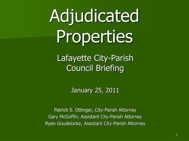 Adjudicated Properties