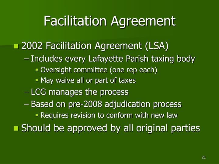 Facilitation Agreement